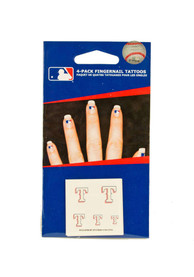 Texas Rangers Fingernail Tattoo