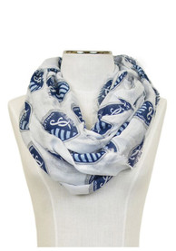 Sporting Kansas City Womens Logo Infinity Scarf - White