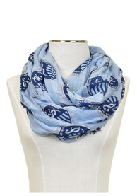 Sporting Kansas City Womens Logo Infinity Scarf - Blue