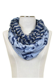 Sporting Kansas City Womens Split Stripe Infnity Scarf - Light Blue