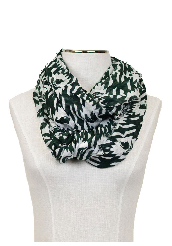 Michigan State Spartans Aztec Womens Scarf - Image 1