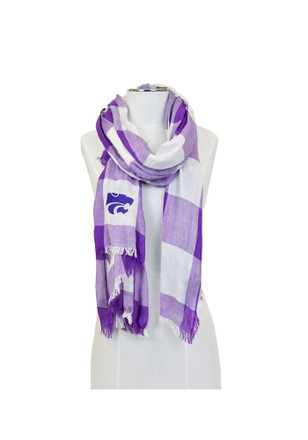 K-State Wildcats Buffalo Check Womens Scarf