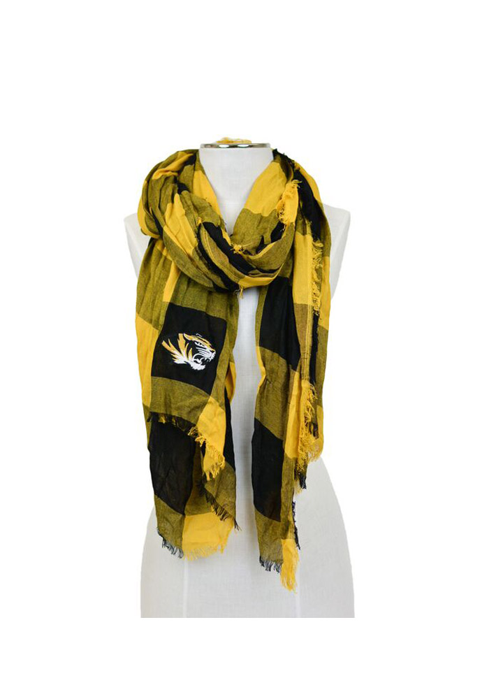 Missouri Tigers Buffalo Check Womens Scarf - Image 1
