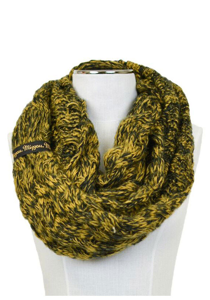 Missouri Tigers Duo Color Knit Infinity Womens Scarf - Image 1