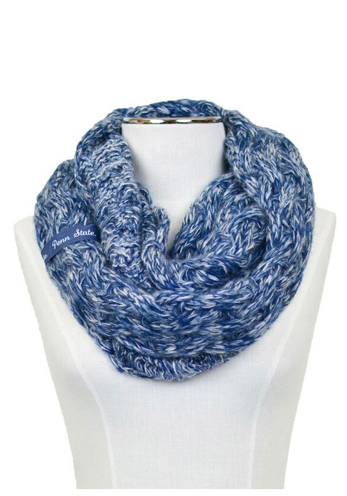 Penn State Nittany Lions Duo Color Knit Infinity Womens Scarf - Image 1