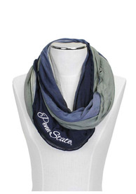 Penn State Nittany Lions Womens Ombre Infinity Scarf - Navy Blue