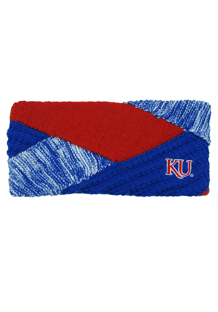 Kansas Jayhawks Criss Cross Womens Headband - Image 1