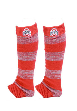 Ohio State Buckeyes Striped Leg Warrmers Womens Knee Socks