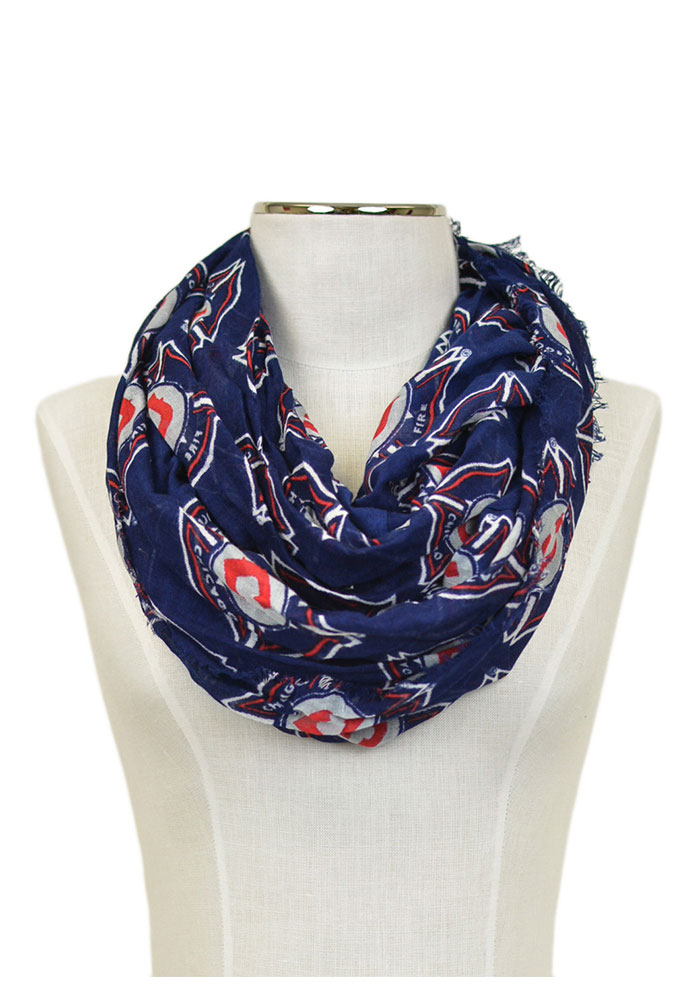 Chicago Fire Logo Infinity Womens Scarf - Image 1