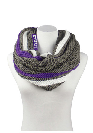 K-State Wildcats Striped Knit Tube Womens Scarf