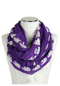 K-State Wildcats Womens Textured Tassel Infinity Scarf - Purple
