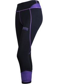 TCU Horned Frogs Womens Tackle Ankle Biter Pants - Black