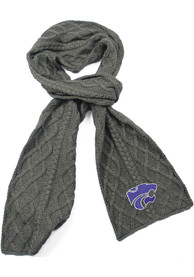 K-State Wildcats Womens Cable Knit Scarf - Purple