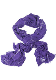 K-State Wildcats Womens Grid Iron Scarf - Purple