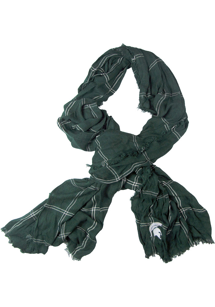 Michigan State Spartans Grid Iron Womens Scarf - Image 1