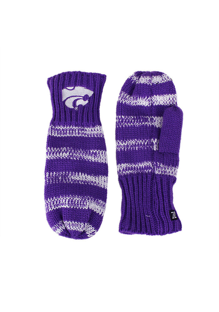 K-State Wildcats Stripe Womens Gloves - Image 1