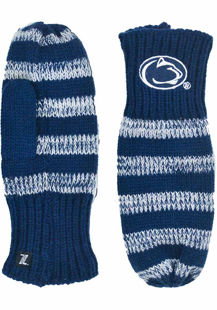 Penn State Nittany Lions Stripe Womens Gloves - Image 1