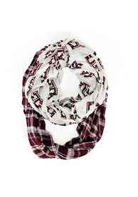Texas A&M Aggies Womens Tartan Logo Scarf - Red
