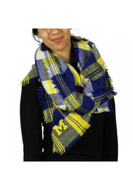 Michigan Wolverines Womens Tailgate Scarf - Navy Blue