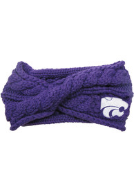 K-State Wildcats Womens Cable Knit Headband - Purple