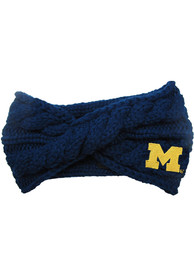 Michigan Wolverines Womens Cable Knit Headband - Navy Blue