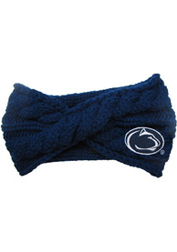 Penn State Nittany Lions Womens Cable Knit Headband - Navy Blue