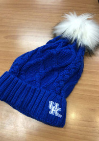 Kentucky Wildcats Womens Cable Knit Knit - Blue