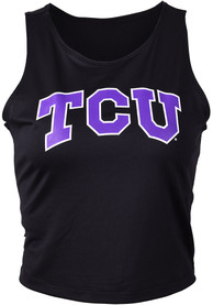 TCU Horned Frogs Womens First Down Tank Top - Black