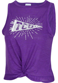 TCU Horned Frogs Womens Free Spirit Tank Top - Purple