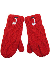Cincinnati Bearcats Womens Cable Mittens Gloves - Red
