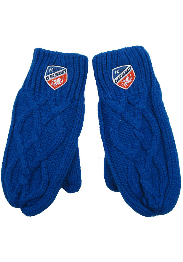 FC Cincinnati Cable Mittens Womens Gloves - Image 1