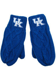 Kentucky Wildcats Womens Cable Mittens Gloves - Blue