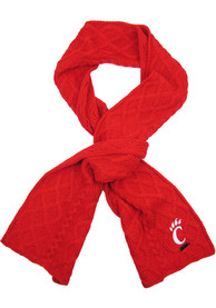 Cincinnati Bearcats Womens Cable Scarf Scarf - Red