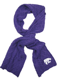 K-State Wildcats Womens Cable Scarf Scarf - Purple