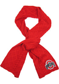Ohio State Buckeyes Womens Cable Scarf Scarf - Red