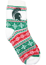 Michigan State Spartans Womens Holiday Quarter Socks - Red