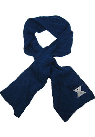 Xavier Musketeers Womens Cable Knit Scarf - Navy Blue