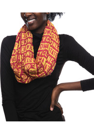 Iowa State Cyclones Womens Block Infinity Scarf - Red