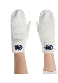 Penn State Nittany Lions Womens Cozy Up Mittens Gloves - White