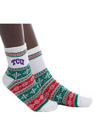 TCU Horned Frogs Womens Holiday Quarter Socks - Purple