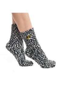 Missouri Tigers Womens Marled Gripper Quarter Socks - Black