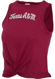 Texas A&M Aggies Womens Twist Tank Top - Maroon