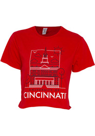 Cincinnati Bearcats Womens Landmark T-Shirt - Red