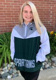 Michigan State Spartans Womens Green Energizer Light Weight Jacket