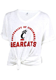 Cincinnati Bearcats Womens Twist Front T-Shirt - White