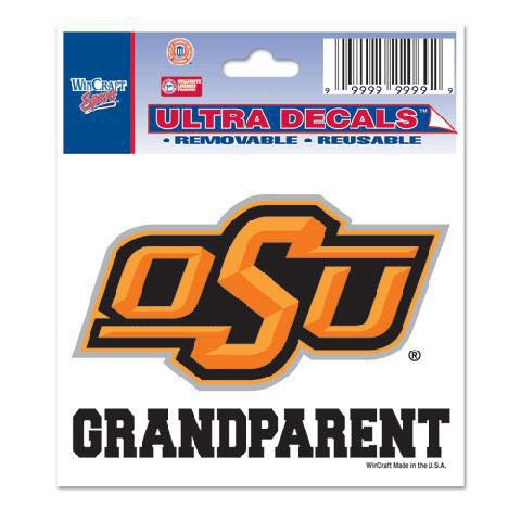 Oklahoma State Cowboys 3x4 Grandparent Decal - Image 1