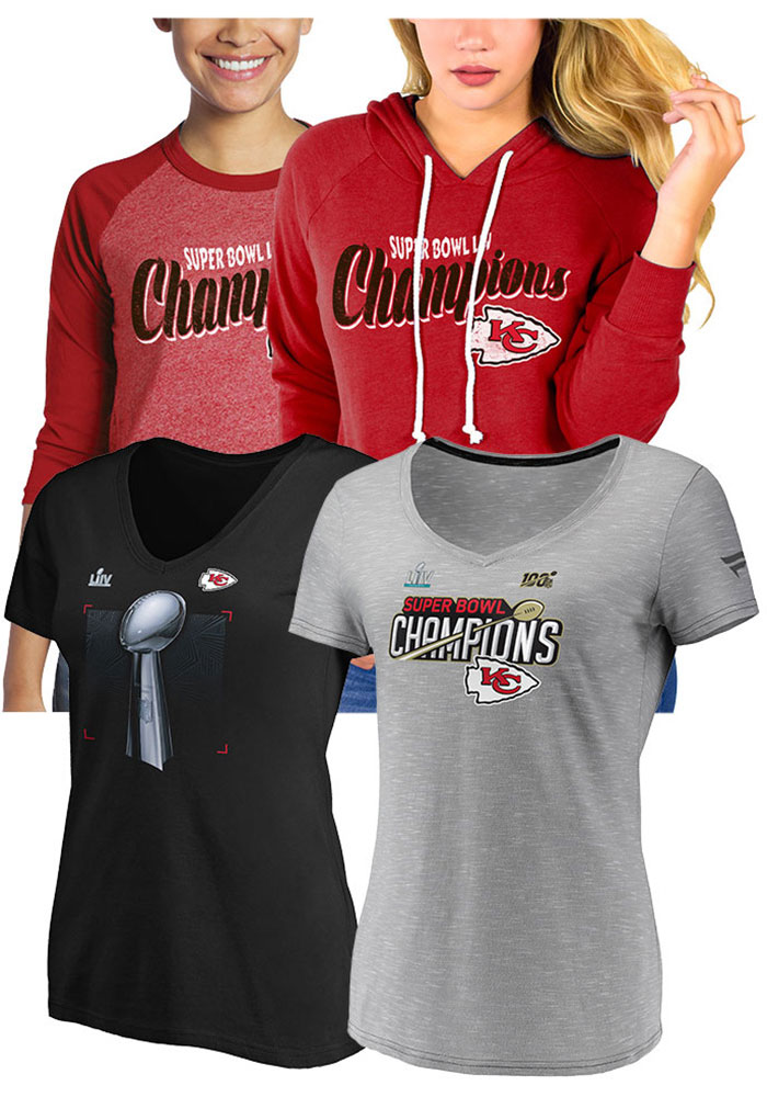 KC Chiefs Womens Variety Super Bowl Champs 4 Pack - Image 1