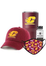 Central Michigan Chippewas Back to School Gift Set Fan Mask - Maroon