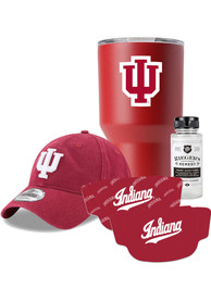 Indiana Hoosiers Back to School Gift Set Fan Mask - Red