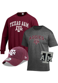 Texas A&M Aggies Gift Pack Sets Crew Sweatshirt - Grey